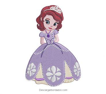 Descargar diseño bordado de princesa sofía