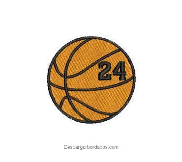 Diseño Bordado Balón de Baloncesto