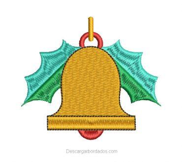 Picajes de Bordado Campana de Navidad