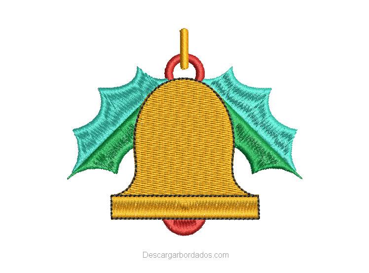 Diseño Bordado Campana de Navidad