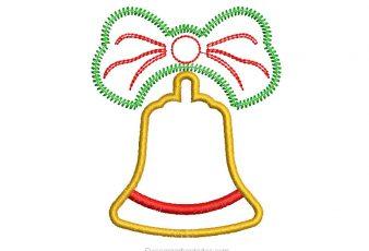 Diseño Campana de Navidad para Bordar