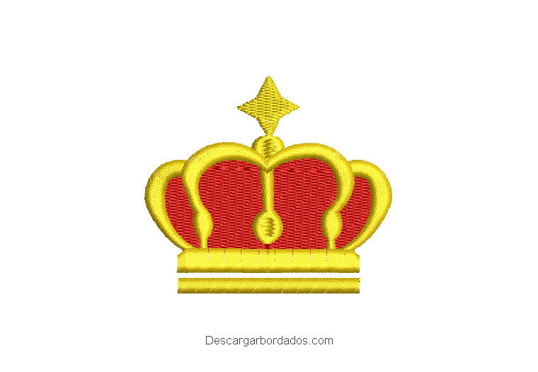 Diseño Bordado Corona de Rey