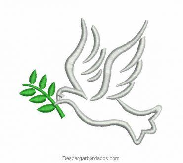 Diseño Bordado Paloma Mensajero de Paz