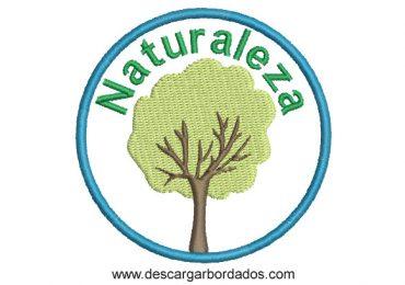 Diseño Bordado de Árbol de Naturaleza