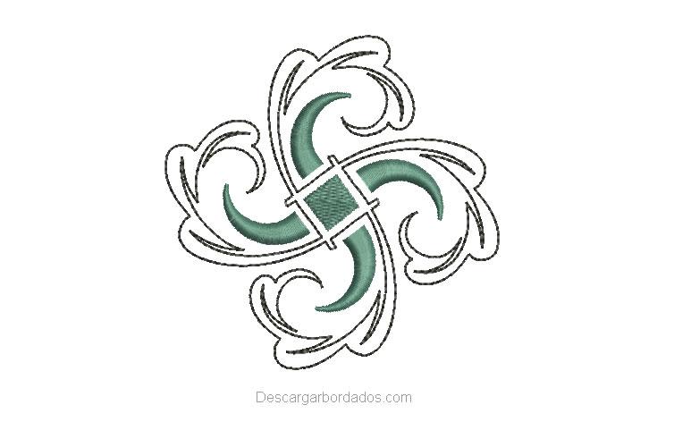 Diseño Bordado de Adornos Florales