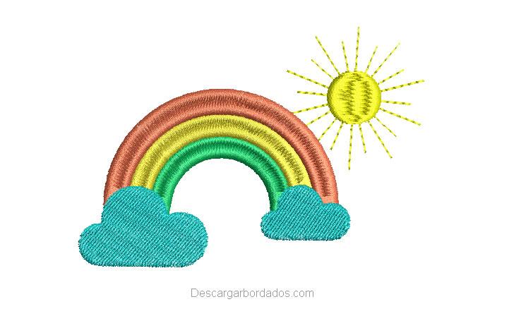 Diseño Bordado de Arco Iris