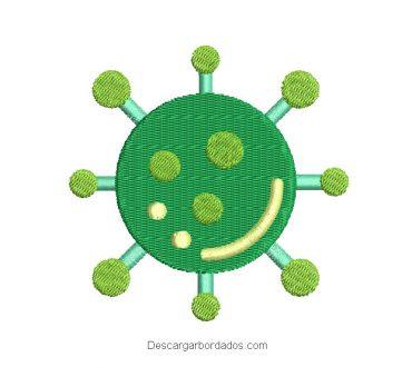 Diseño Bordado de Coronavirus
