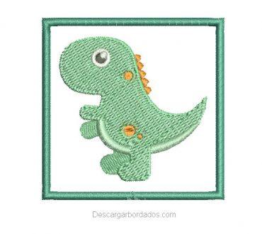 Diseño Bordado de Dinosaurios