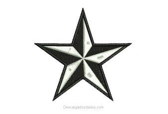 Diseño Bordado de Estrella para Bordar Gratis