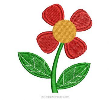 Bordado de Flores para Bordar Gratis