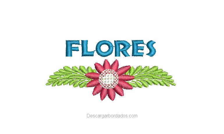 Diseño Bordado de Flores