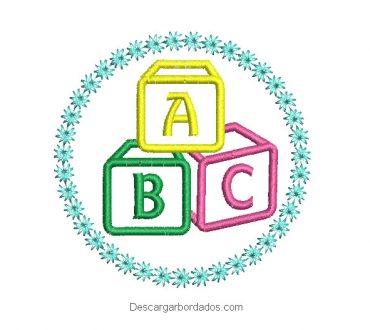 Diseño Bordado de Letras ABC