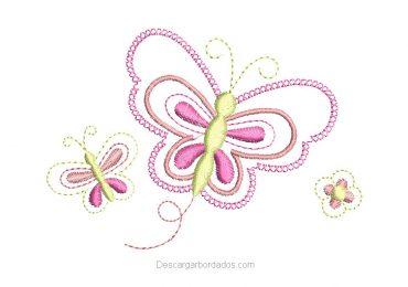 Diseño Bordado de Mariposa