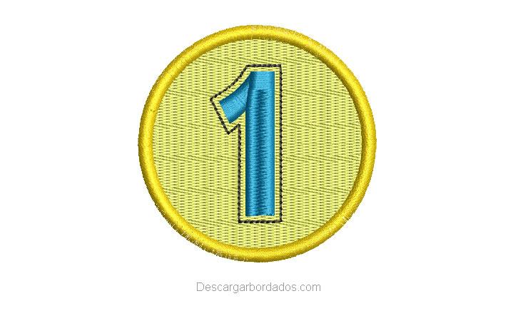 Diseño Bordado de Medalla Número 1