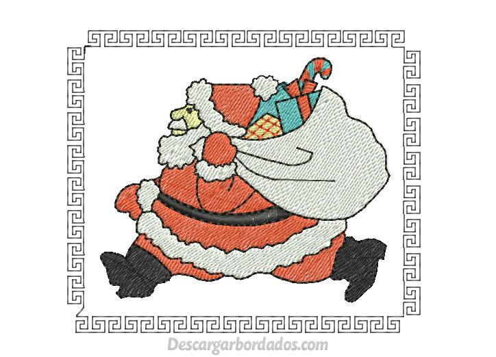 Diseño Bordado de Navidad Papa Noel