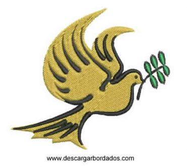 Diseño Bordado de Paloma de Paz para Bordar
