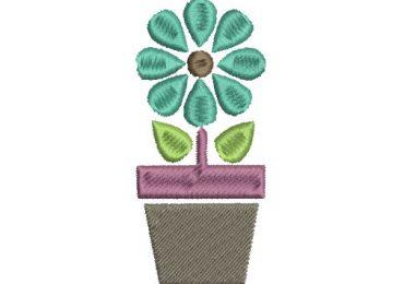 Diseño Bordado de Plantas en maceta