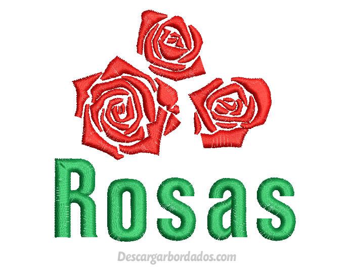 Diseño Bordado de Rosas para Bordar