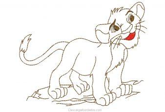 Diseño Bordado de Tigre para Bordar