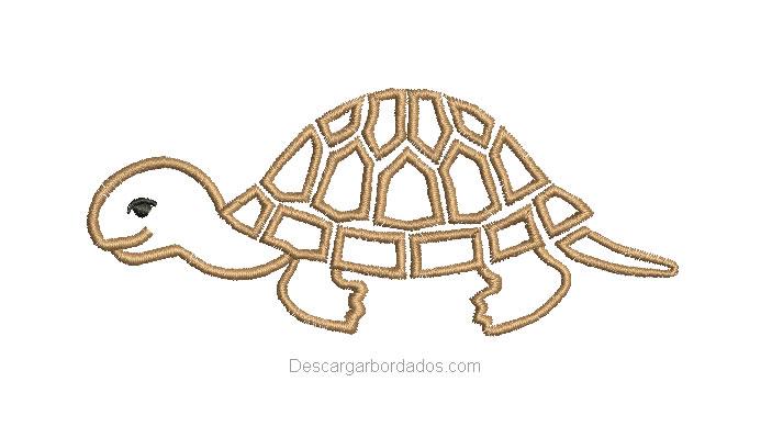 Diseño Bordado de Tortuga