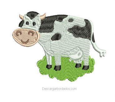 Bonito Diseño de Vaca para Bordado