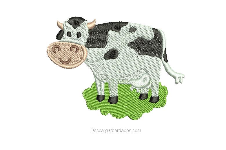 Diseño Bordado de Vaca