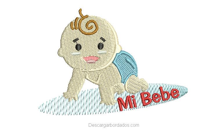 Diseño Bordado de bebe con Nombre