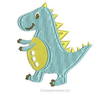 Diseño Bordado de Dinosaurio Infantil