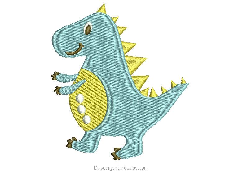 Diseño Bordado de dinosaurio