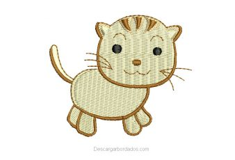 Descargar Bonito Diseño de Gato para Bordar