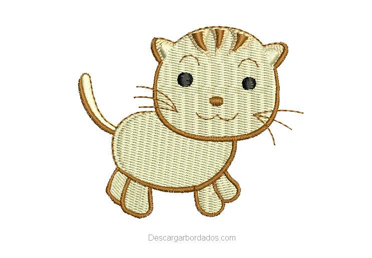 Diseño Bordado de gatito