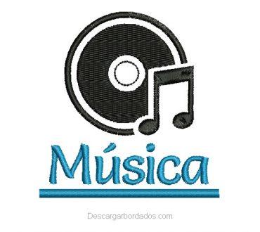 Diseño Bordado de letra Música