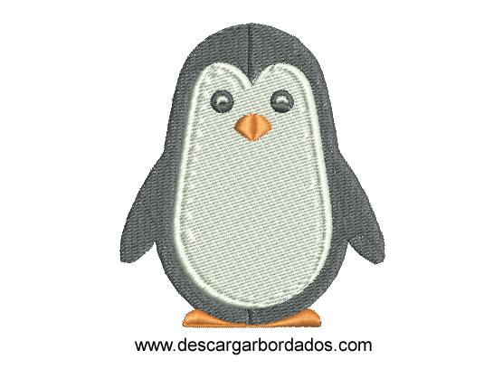 Diseño Bordado de pinguino