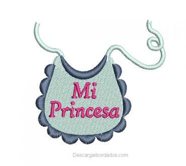 Diseño Bordado babero de bebé con Nombre