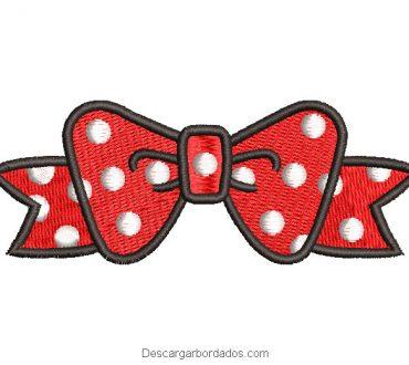 Diseño Bordado lazo de Minnie Mouse