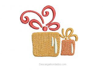 Lindo Bordado de regalo de Navidad