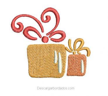 Diseño Bordado regalo de Navidad