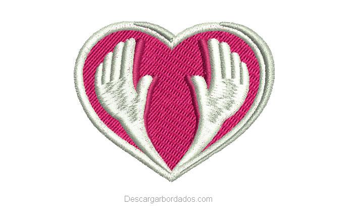 Diseño Bordados de Corazón