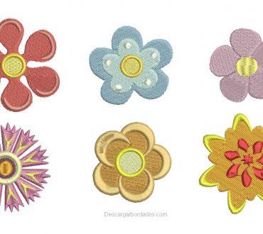 Diseño Bordado de Flores en Formato Dst, Pes, Jef