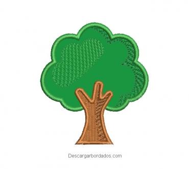 Descargar diseño bordado árbol con aplicación