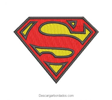 Diseño bordado Logo de Superman