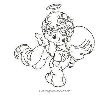 Diseño bordado ángeles para bordar