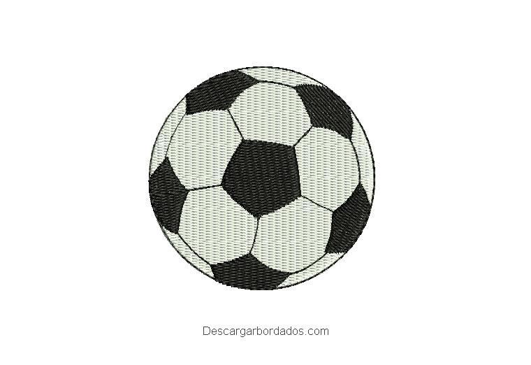 Diseño bordado balón de fútbol