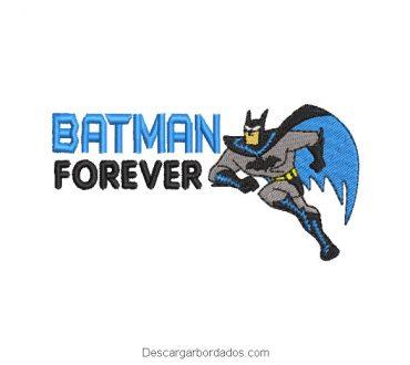 Diseño bordado batman forever