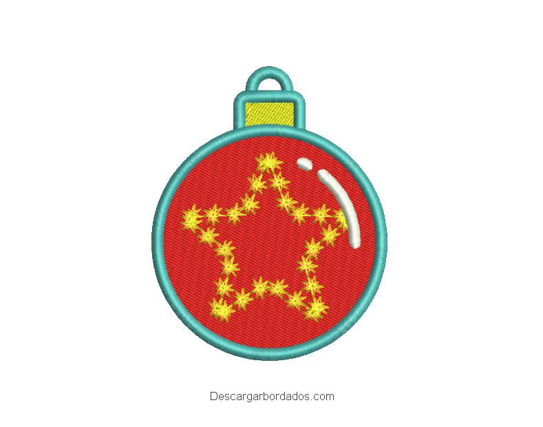 Diseño bordado bola de navidad