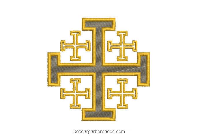 Diseño bordado cruz de jerusalén