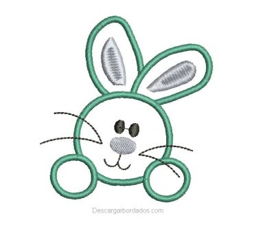 Descargar bordado de Conejos Gratis