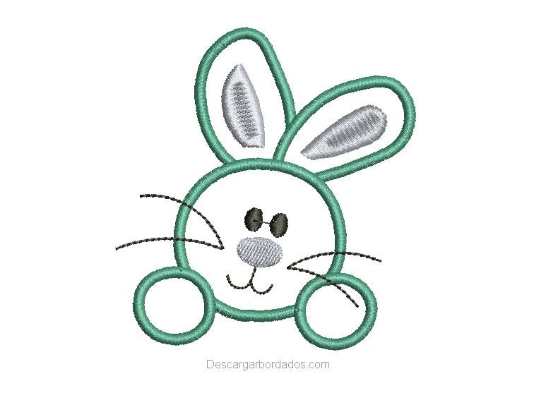 Diseño bordado de Conejo