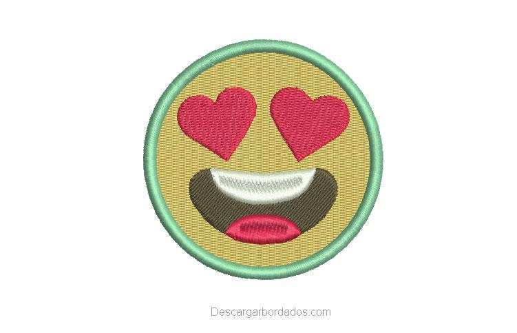 Diseño bordado de Emoji