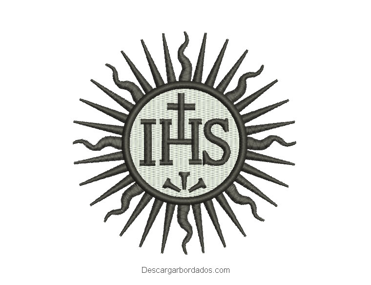 Diseño bordado de IHS para máquina